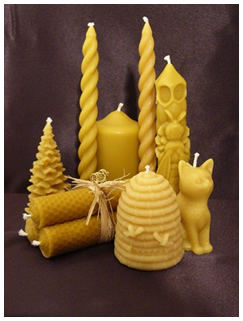 Assorted Candles from The Wiltshire Beekeeper